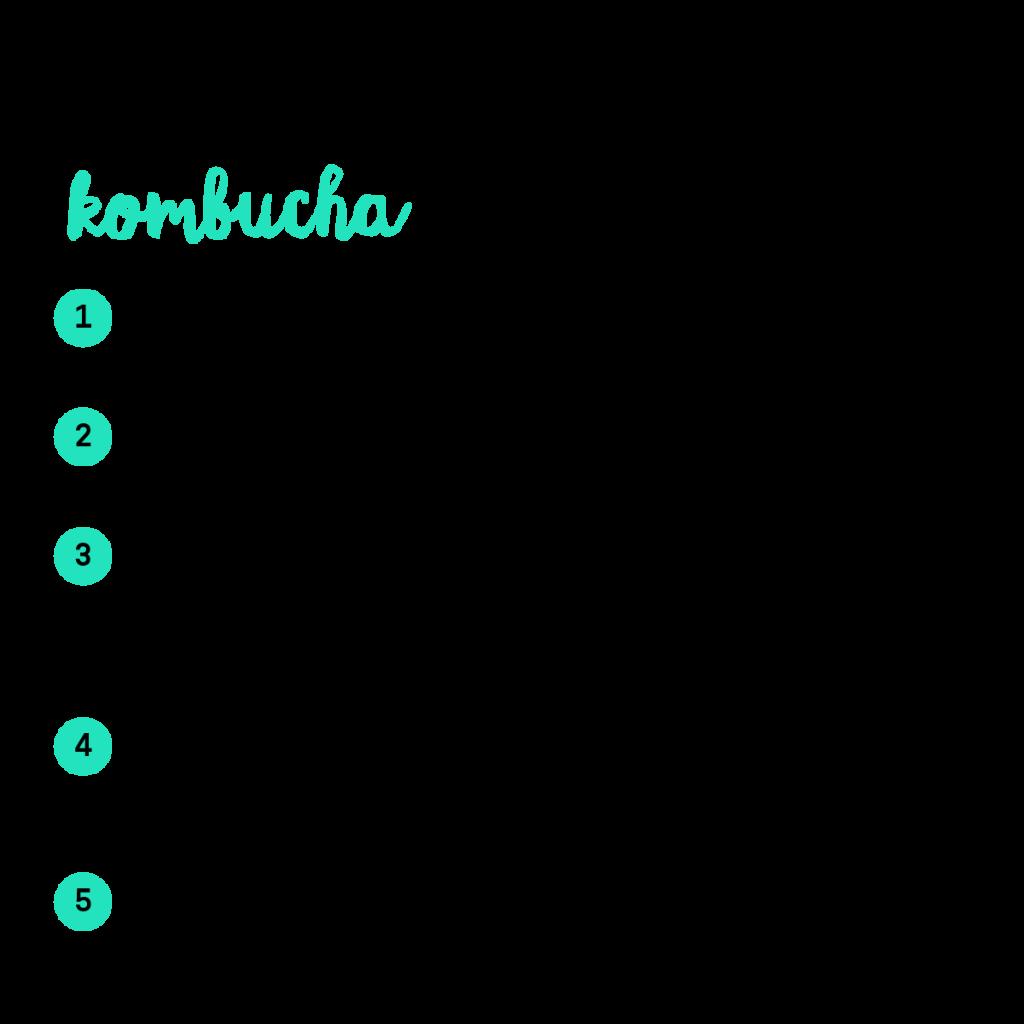 infografica 5 motivi per bere kombucha