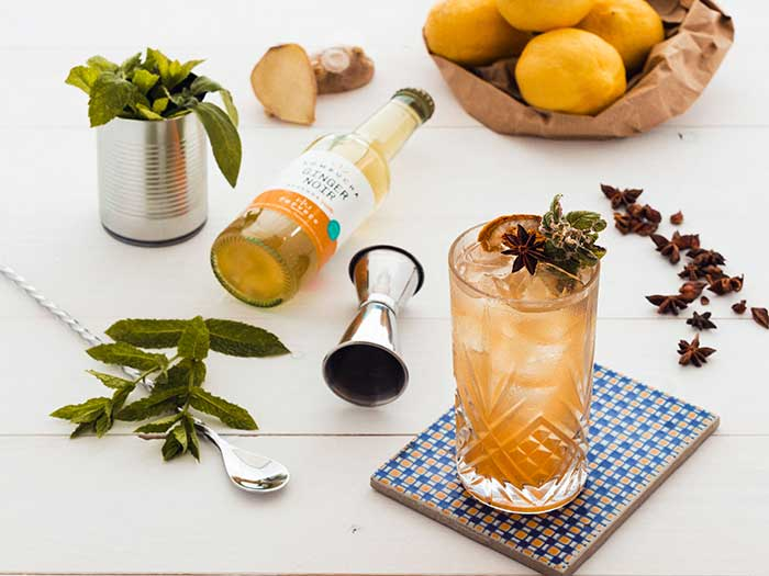 cocktail con kombucha maokong