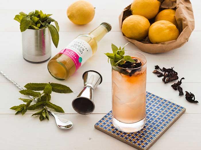 cocktail con kombucha il bacio della regina
