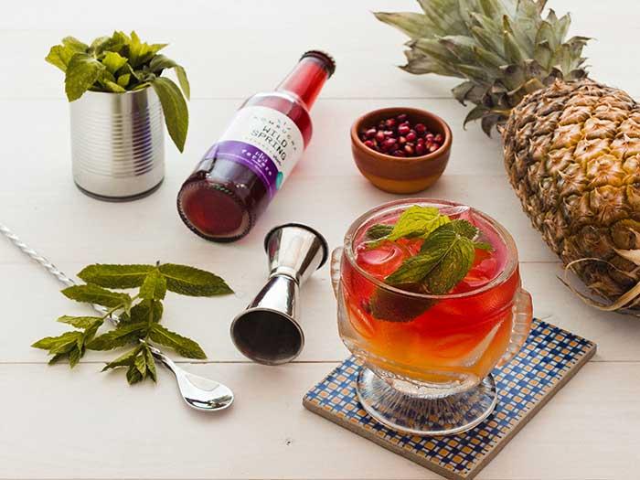 cocktail con kombucha aloha