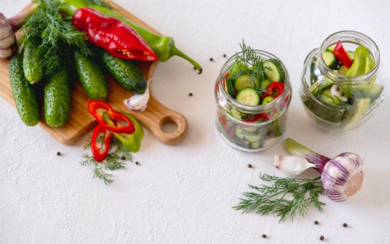 preparazione delle verdure fermentate